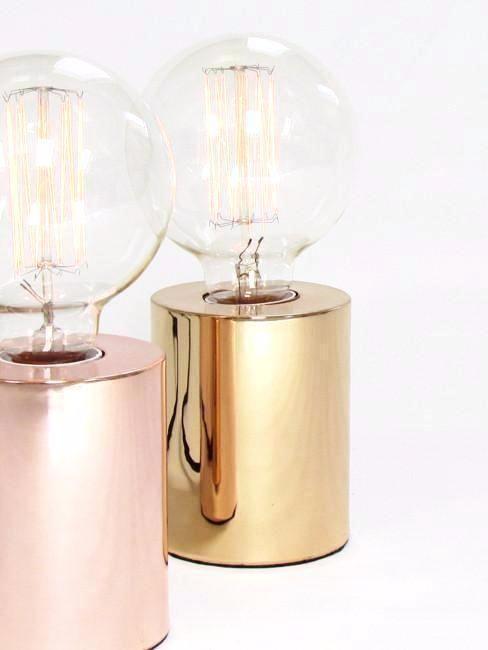 Gold Brass Table Lamp, Bedside, Desk Lamp