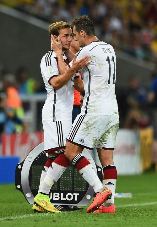 Mario Gotze and Miroslav Klose
