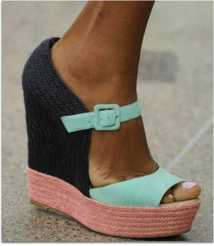 summer wedge: Colors Combos, Fashion Shoes, Style, Mary Katrantzou, Cute Wedges, Wedges Shoes, Summer Colors, Colors Blocks, Summer Wedges