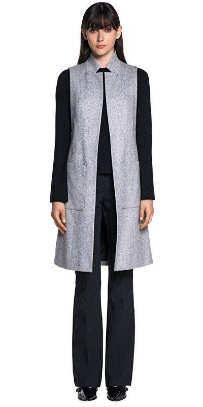 CUE - Wool Melange Sleeveless Jacket