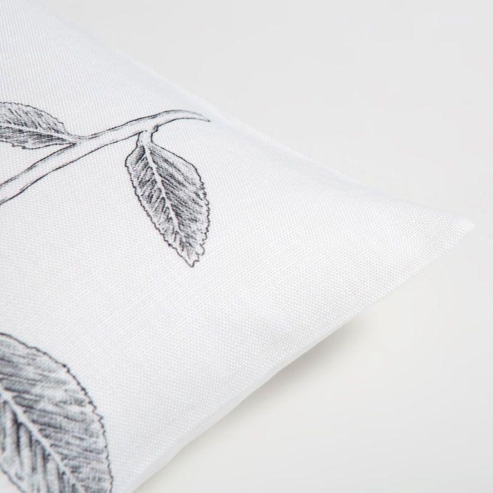 Εικόνα 1 του προϊόντος Λινό κάλυμμα μαξιλαριού με γκρι λουλουδάτο σχέδιο