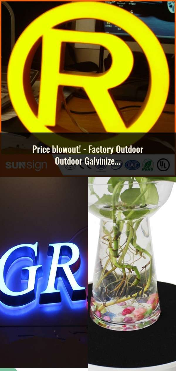 Factory Outdoor Outdoor Galvinized sheet return acrylic face LED