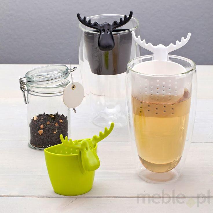 Zaparzaczka do herbaty zielona transparentna Rudolf KZ-3233017, koziol - Wyposażenie wnętrz