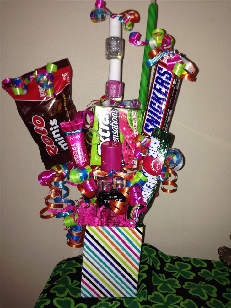 Teen birthday gift basket