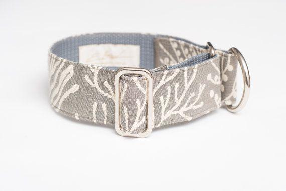 Silver jacquard martingale collar by zaCHARTowani on Etsy