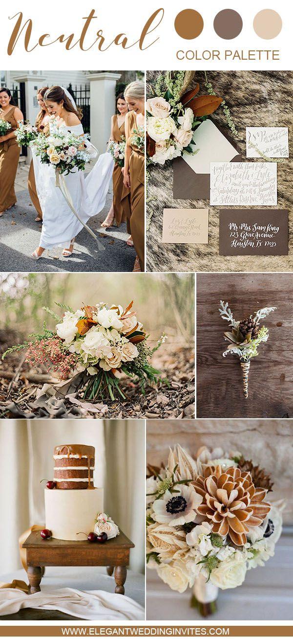 10 Swoon Worthy Neutral Wedding Color Palette Ideas Elegantweddinginvites Com Blog Winter Wedding Color Palette Wedding Theme Colors Country Wedding Colors