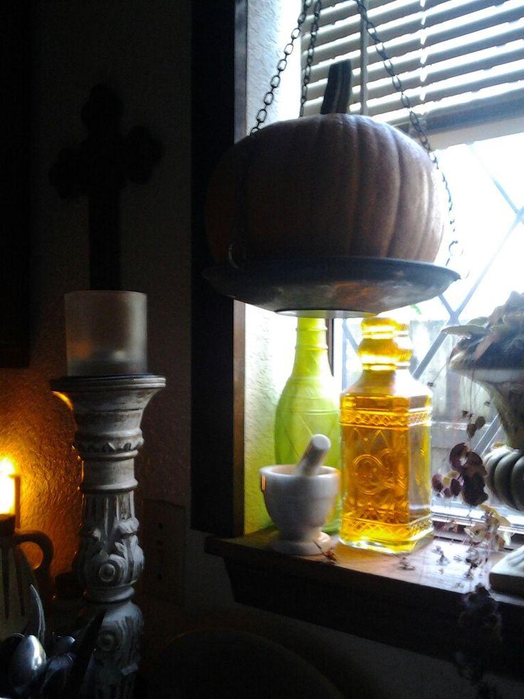 Kitchen window around the first days of Autumn.