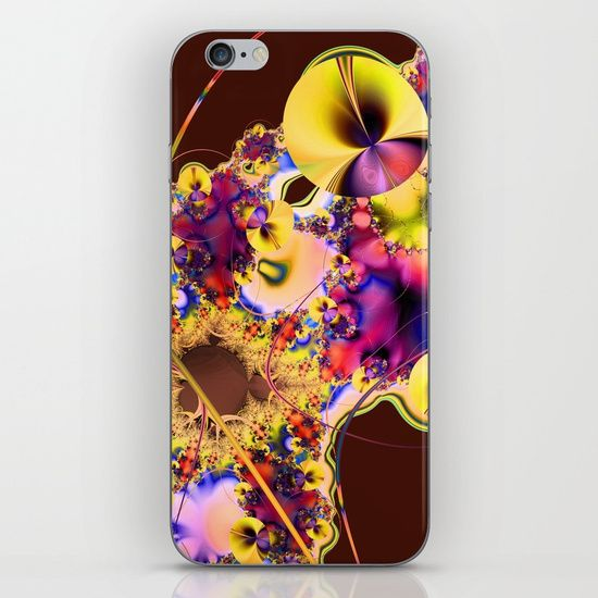 Hibiscus in Yellow iPhone & iPod Skin by Terrella.  Skins are thin, easy-to-remove, vinyl decals for customizing your device. Skins are made from a patented material that eliminates air bubbles and wrinkles for easy application.