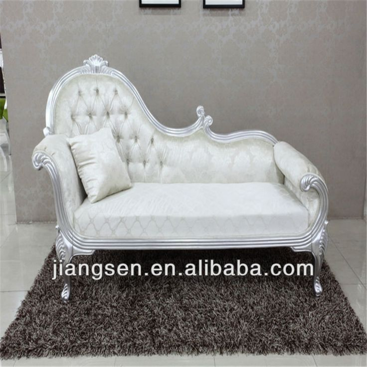 white noblest fabric french chaise lounge chaise lounge