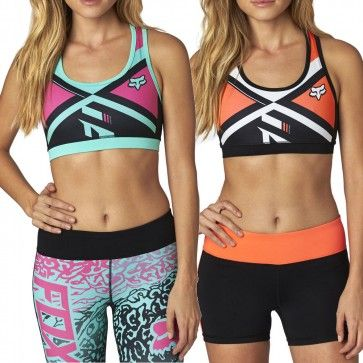 Fox Divizion Tech Womens Spandex Ladies Tops Work Out Sports Bra