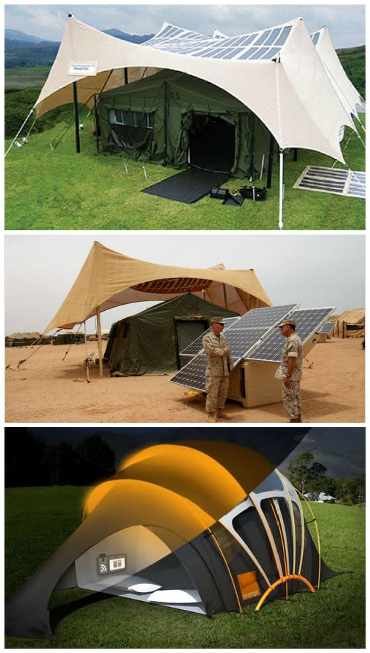 Sun Is The Future Solar Powered Tent Outdoors