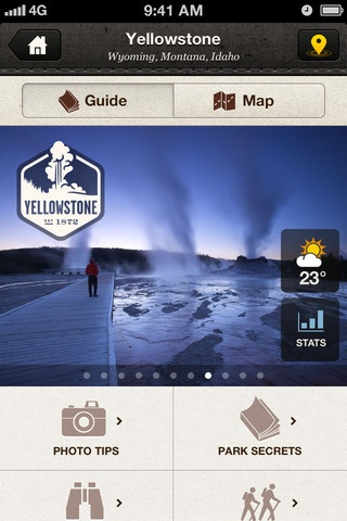 The National Parks App by @NatGeo is beautiful. #design #ui #ux #mobile