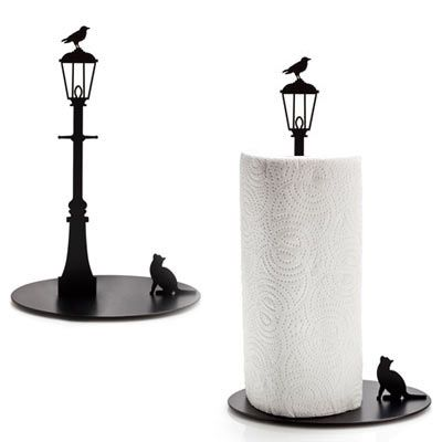 Cat and Crow Paper Towel Holder- WANT!!!