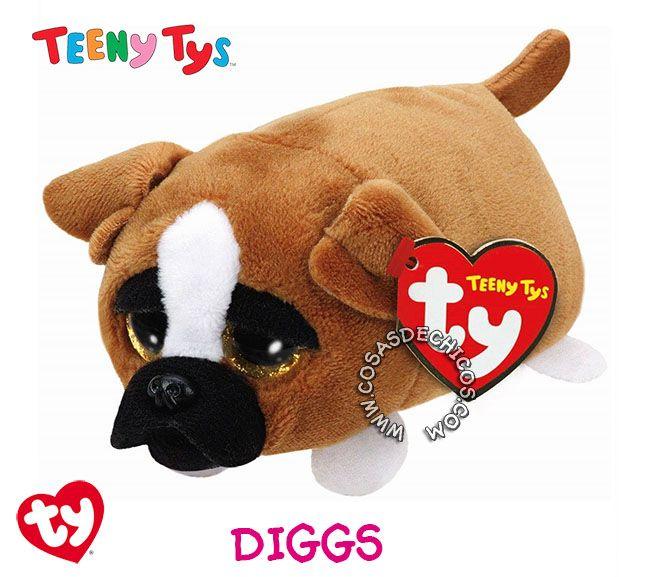 #Nuevos #Peluches #TeenyTys #Originales #TY  #Importados.  Irresistibles y adorables peluches Teeny Tys. Super suavecitos. Con enormes ojos brillantes. Medida: 9 cm. Coleccionalos!  Importador oficial: #Wabro.  #CosasDeChicos #Diggs #Perro #Dog #Teeny #Tys