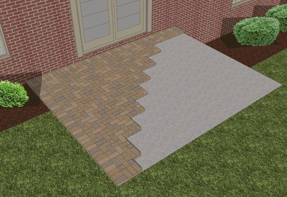 ... How To Lay Pavers Over Existing Concrete Patio | Ideas For The House |  Pinterest ...