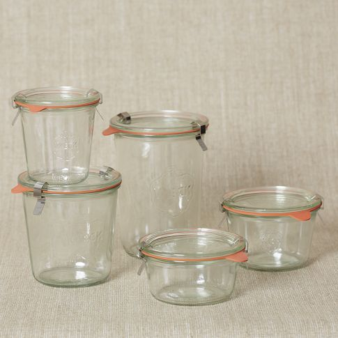 Weck Glass Jars - Trying to replace all my plastic tupperware...ME TOO!