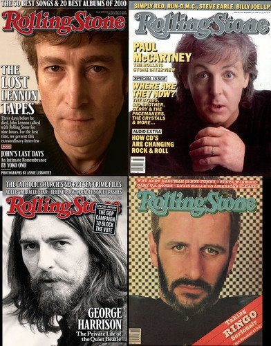 The Beatles, on the cover of the Rolling Stone