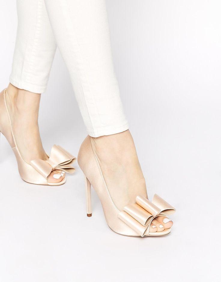 Image 1 of ASOS POPPY Peep Toe High Heels