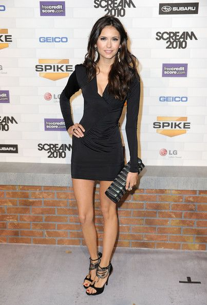 "Nina Dobrev arrives at Spike TV's ""Scream 2010"" at The Greek Theatre on October 16, 2010 in Los Angeles, California."