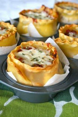 Lasagna Cups: Interesting and Original Presentation