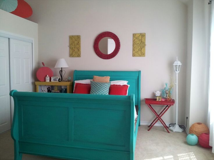 Aqua And Red Bedroom Ideas New Decoration