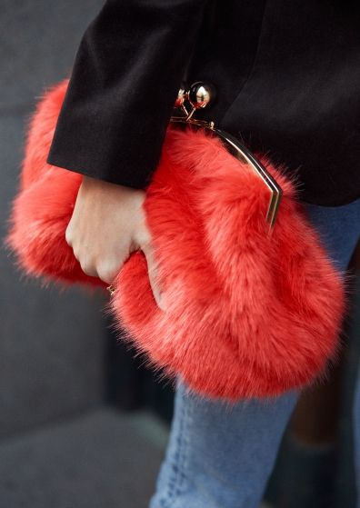 & Other Stories | Inspiration | Faux Fur Clutch