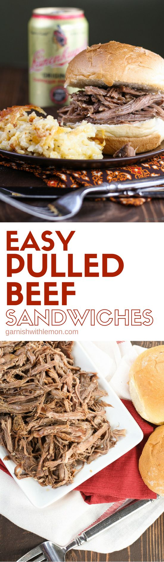 These Easy Pulled Beef Sandwiches are perfect for easy entertaining. They always…
