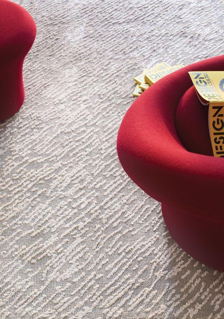 Tapis en viscose et polyester tricoté Hurican silver 170x240