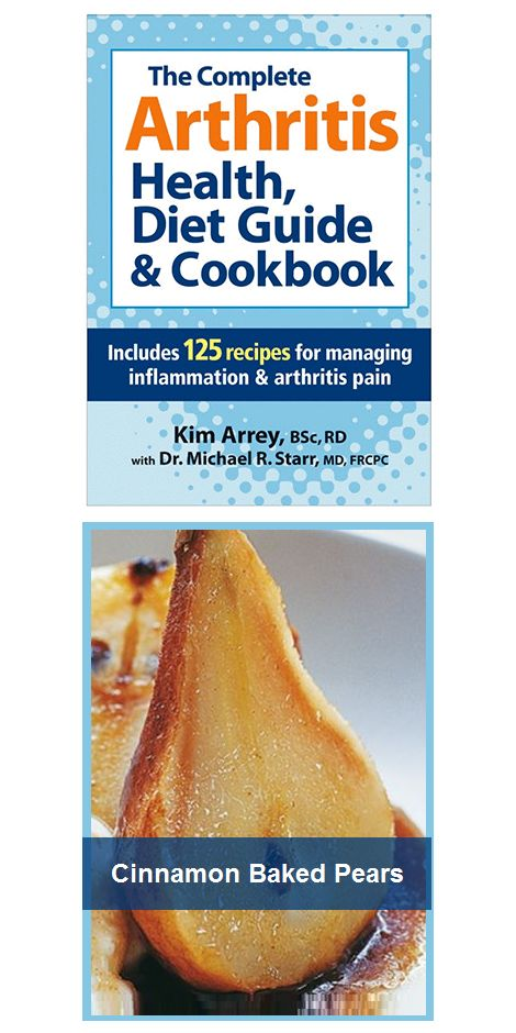 Manage arthritis! Easy-to-read tables and charts. Recipes include nutritional analysis and tips for grocery shopping. Paperback. 352 pages. Inside: - Presents the symptoms, causes and diagnosis of rheumatoid arthritis - Medications, nutritional supplements, food and other lifestyle factors are evaluated as well as how the body deals with inflammation - Food guide with recipes and sample menus to help reduce inflammation.