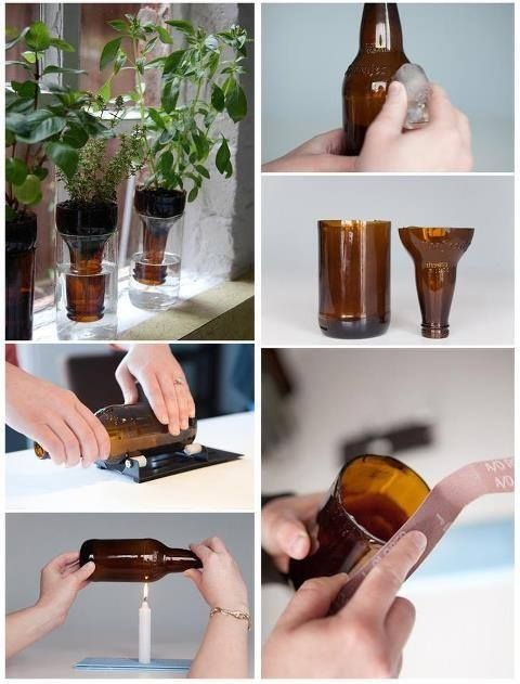 ¿cómo cortar botellas de vidrio?.. y convertirlas en materas