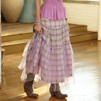 Plaid Rodeo Cinderella Skirt - I love the tulle layer!: Plaid Rodeo, Rodeo Cinderella, Plaid Skirts, Rodeo Skirts, Nests Trade, Country Skirts And Boots, Westerns Skirts, Cinderella Skirts, Crows Nests
