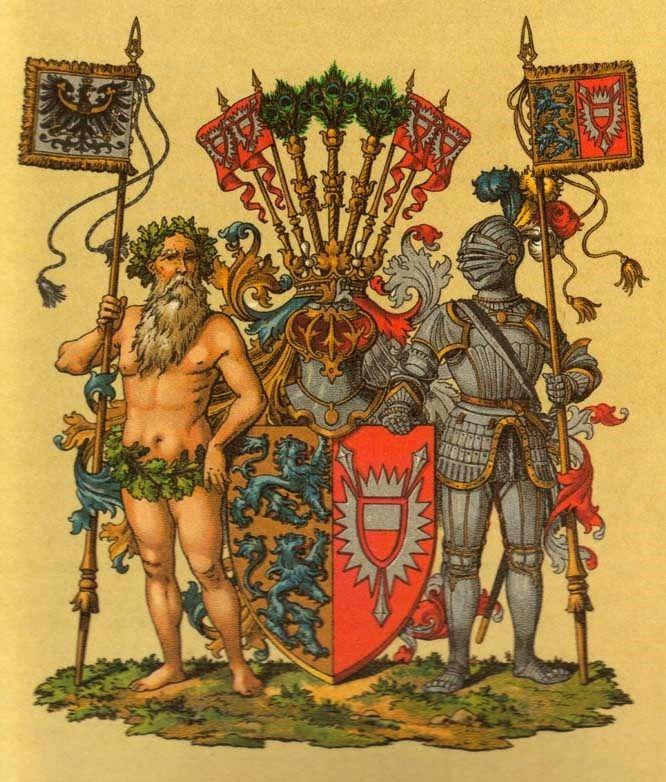 """Province of Schleswig-Holstein, great arms, """"Deutsche Wappenrolle,Wappen von Deutschen Reiches und seiner Bundesstaaten"""" by Hugo Gerhard Ströhl, 1897."""
