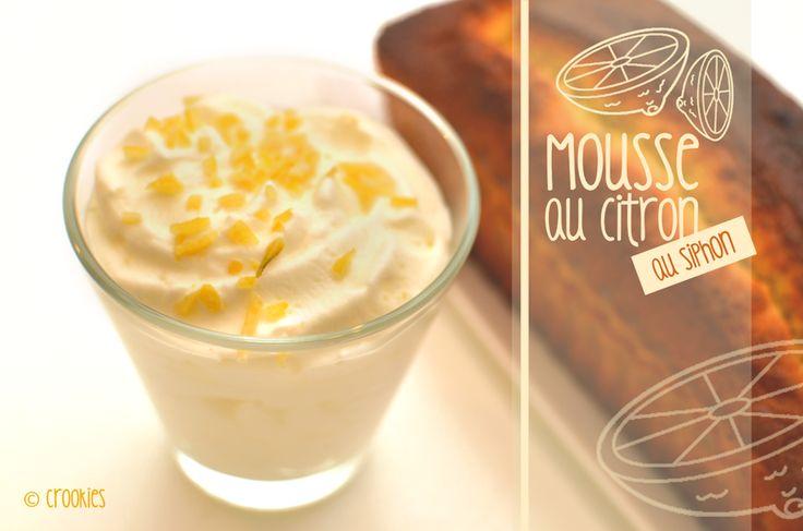 Une recette de mousse au citron à préparer à l'aide d'un siphon. Résultat aérien et riche en goût garanti !