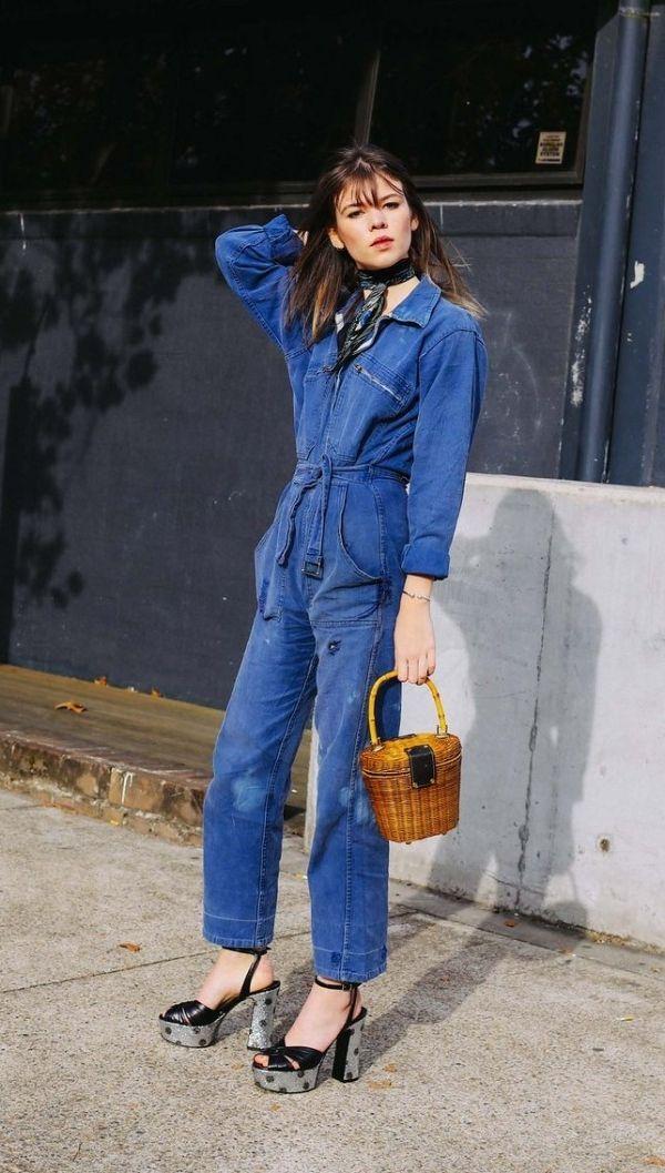 Best 25  Denim jumpsuit ideas on Pinterest | Jeans jumpsuit ...