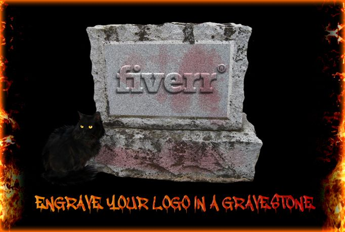 annushka: engrave your logo on a gravestone for $5, on fiverr.com