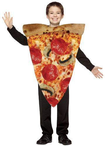 Order up some fun this Halloween with this one piece Kids Pizza Slice costume. This poly foam costume is easy to wear and great for many different occasions. Perfect for Halloween. Pair with other food costumes for a fun group theme or maybe with some Teenage Mutant Ninja Turtles.