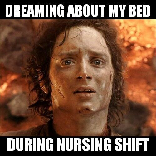 Dreaming about my bed #nurse #nursing #rn #meme #funny #memes #nursingschool