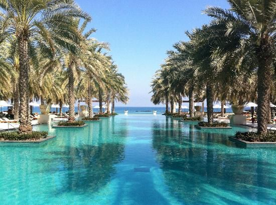 """Al Bustan Palace, a Ritz-Carlton Hotel Muscat, Oman """"The main pool was by far the nicest, with infinity ending onto the sea view."""""""