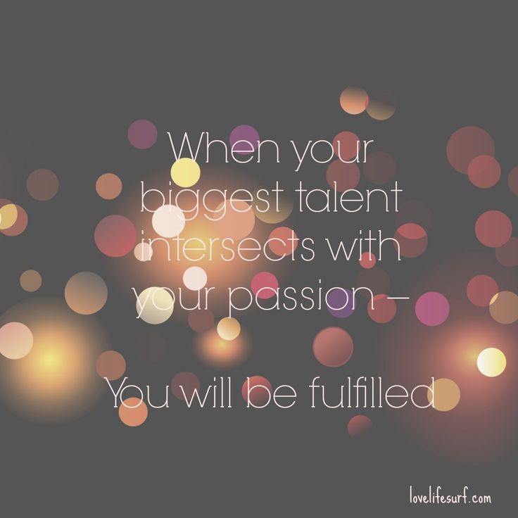 Talent and passion intersects
