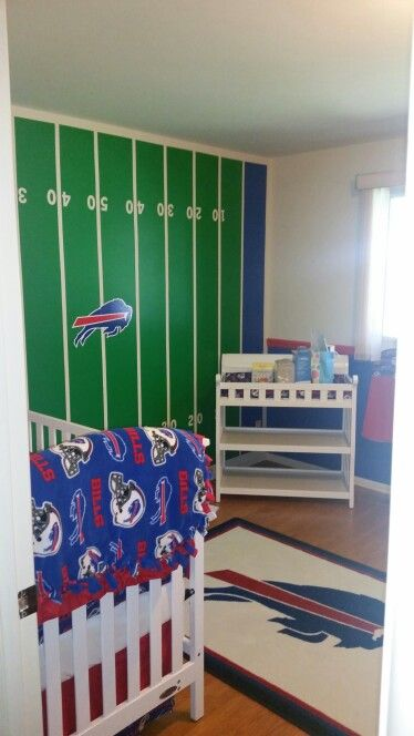 Buffalo Bills theme nursery.  It's not quite done yet but almost!!!