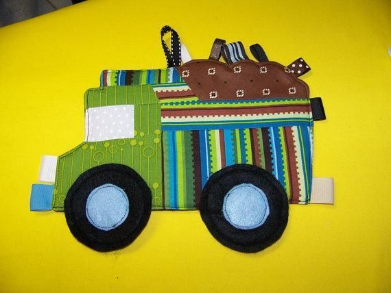 Dump Truck Taggie Toy pdf  from www.civilwarlady.etsy.com This is a patchwork pattern great to use up those scraps it is a very fun and easy pattern to make.  This is a great toy for children as young as 3 months old fun to make a quick and easy and great gift for a baby shower or New baby gift.
