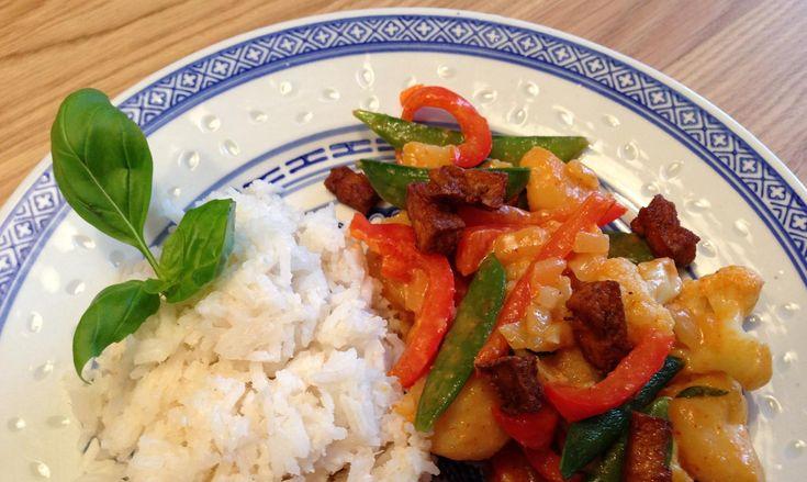 Ook lekker! Thaise curry met kokosrijst