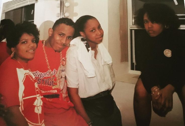 """""""Back stage @apollotheater With MC Shan/ Jazzy Joyce/Nikki D, The first Female Rapper to sign to @defjamrecords Harlem, 1986."""" 