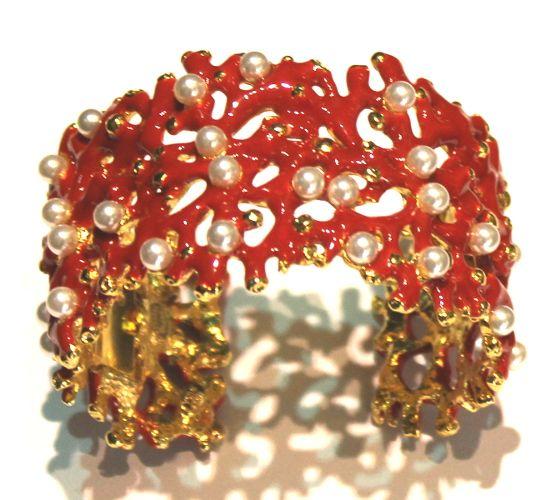 Kenneth Lane coral branch bangle
