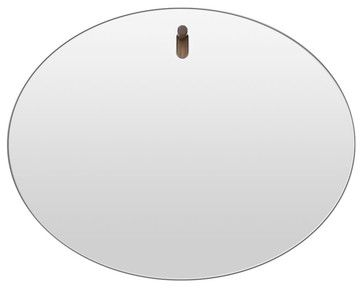 Blu Dot Hang 1 Oval Mirror - modern - makeup mirrors - Blu Dot