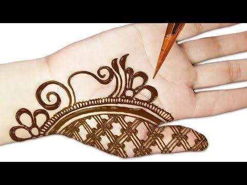 easy mehndi design in front hand