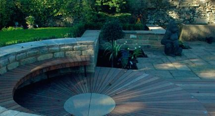 64 best images about ay on pinterest gardens built ins for Circular garden decking