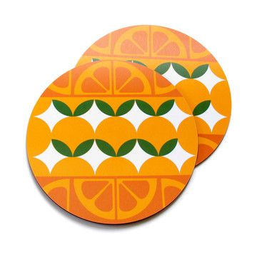 Gillian Blease: GB Round Oranges Placemats