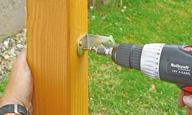 Holz-Gartentor bauen: Schritt 9 von 22