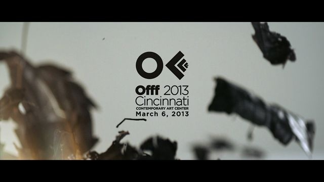 Opening titles for OFFF 2013 Cincinnati Design and Direction: Onur Senturk Graphic Design and Type Treatment: Ipek Torun
